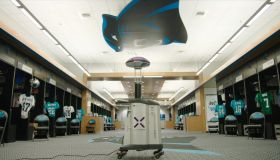 Carolina Panthers Sanatize Robot
