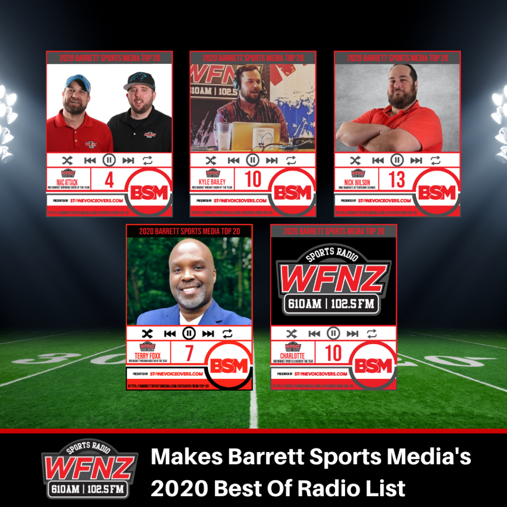 WFNZ Makes BARRETT SPORTS MEDIA's Best Of Radio Lists