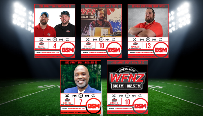 WFNZ Makes BARRETT SPORTS MEDIA's Best Of Radio Lists