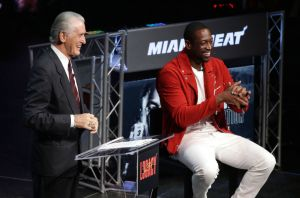 Dwayne Wade: Pat Riley not going anywhere, and I'm not replacing him with Heat if he does